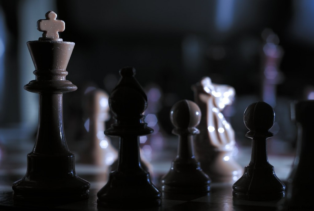 Photo by Jason Polak (A chess set I received when I was sixteen).